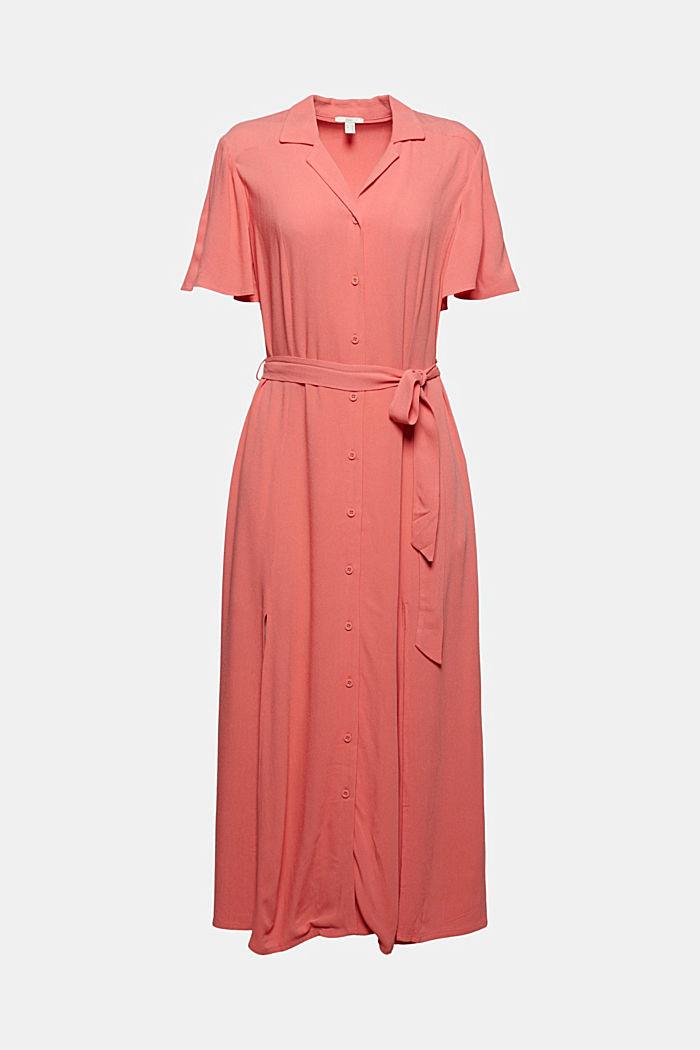 Maxi-jurk met ceintuur van LENZING™ ECOVERO™