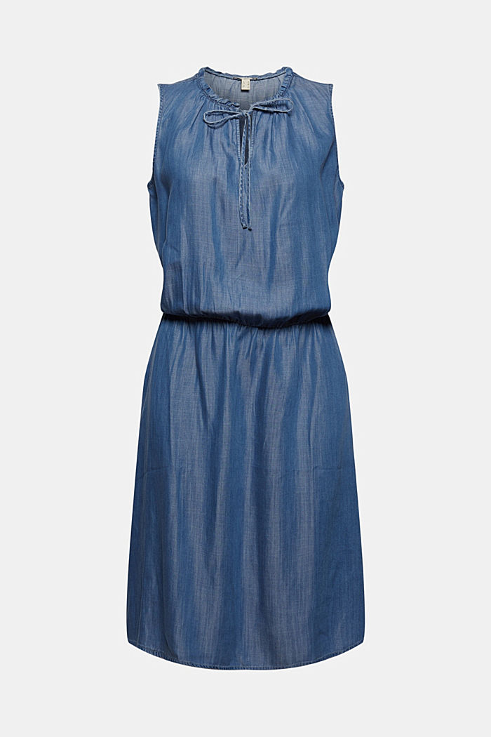 Made of TENCEL™: fitted denim dress