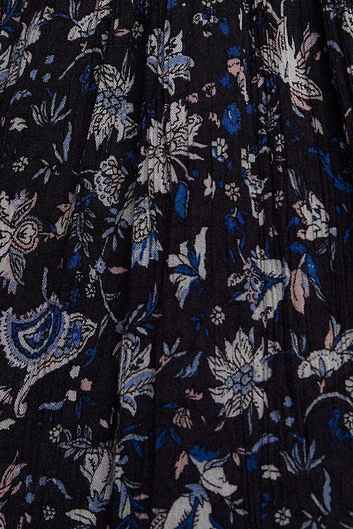 Print dress made of LENZING™ ECOVERO™, NAVY, detail image number 4