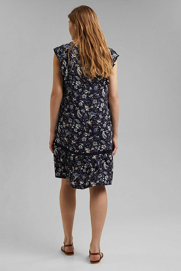 Jersey jurk van LENZING™ ECOVERO™, NAVY, detail image number 2