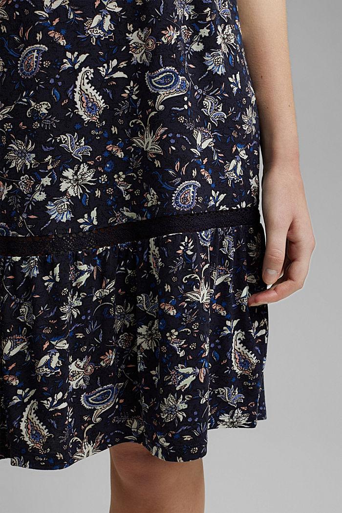 Jersey jurk van LENZING™ ECOVERO™, NAVY, detail image number 6