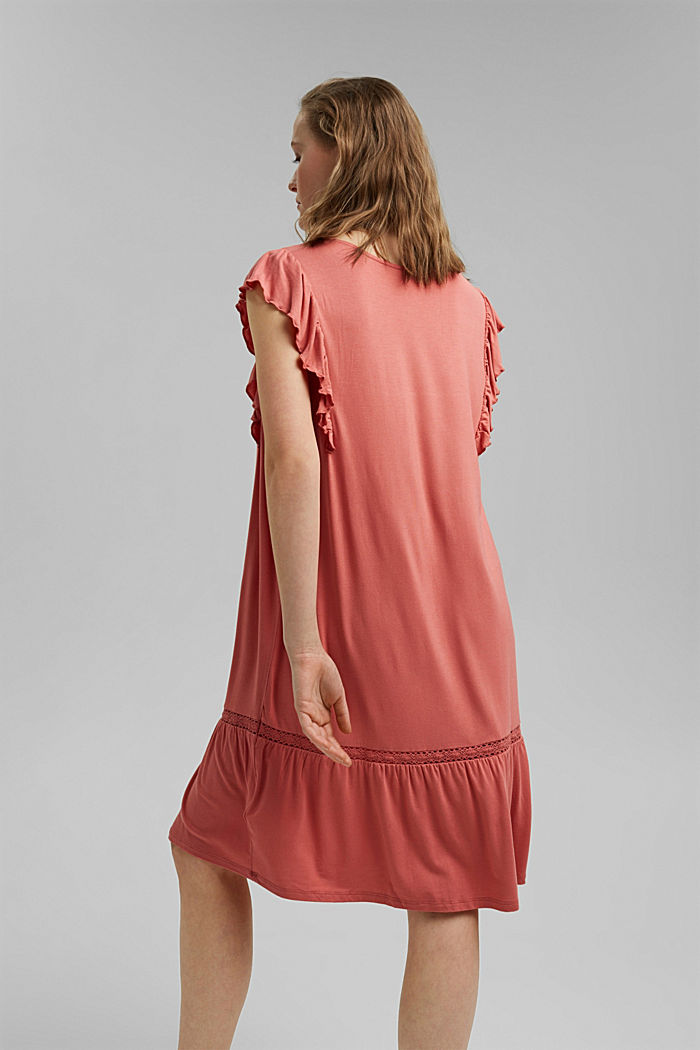 Jersey dress made of LENZING™ ECOVERO™, CORAL, detail image number 2