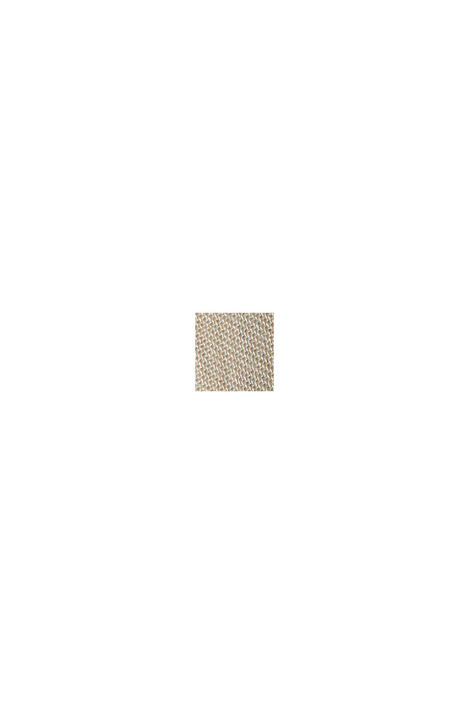 Striped midi dress made of LENZING™ ECOVERO™, BEIGE, swatch