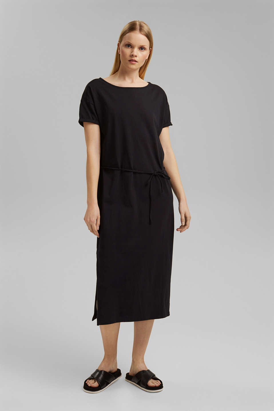edc - Midi-length jersey dress, organic cotton