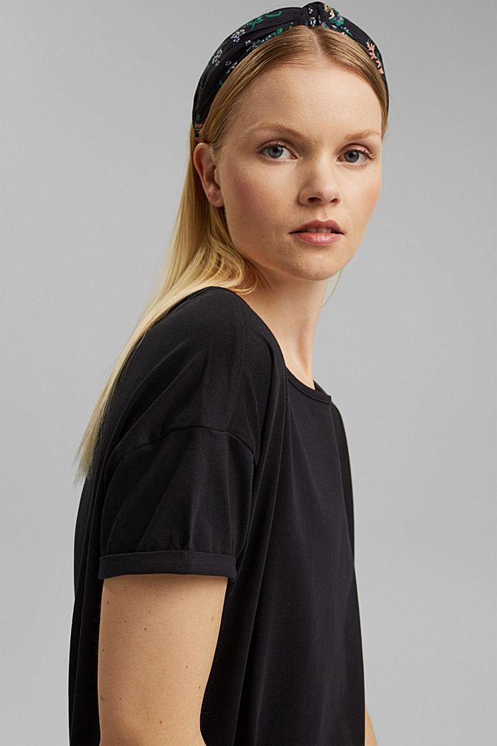 Vestido de largo midi realizado en jersey, algodón ecológico, BLACK, detail image number 5
