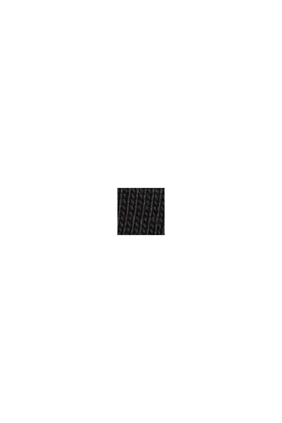 Jersey-Kleid in Midilänge, Organic Cotton, BLACK, swatch