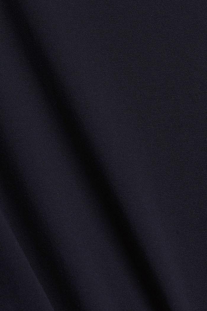 Jerseykjole i midilængde, økologisk bomuld, NAVY, detail image number 4