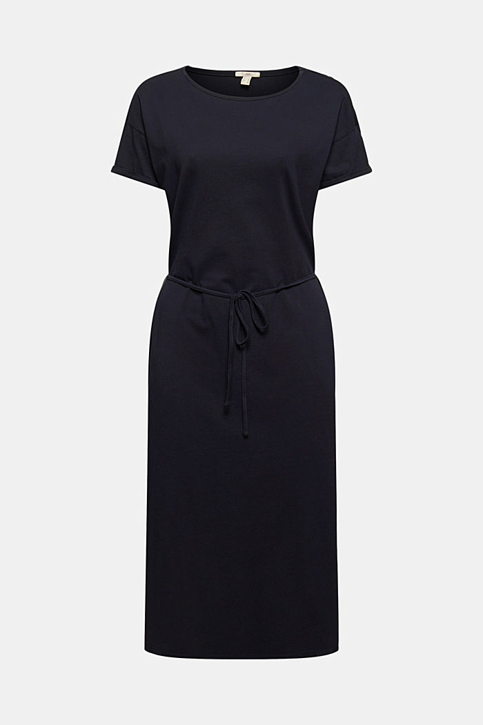 Midi-length jersey dress, organic cotton