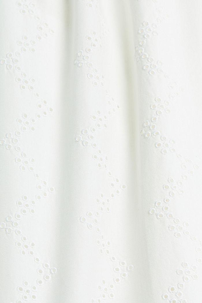 Bluse mit Lochstickerei, Organic Cotton, OFF WHITE, detail image number 4