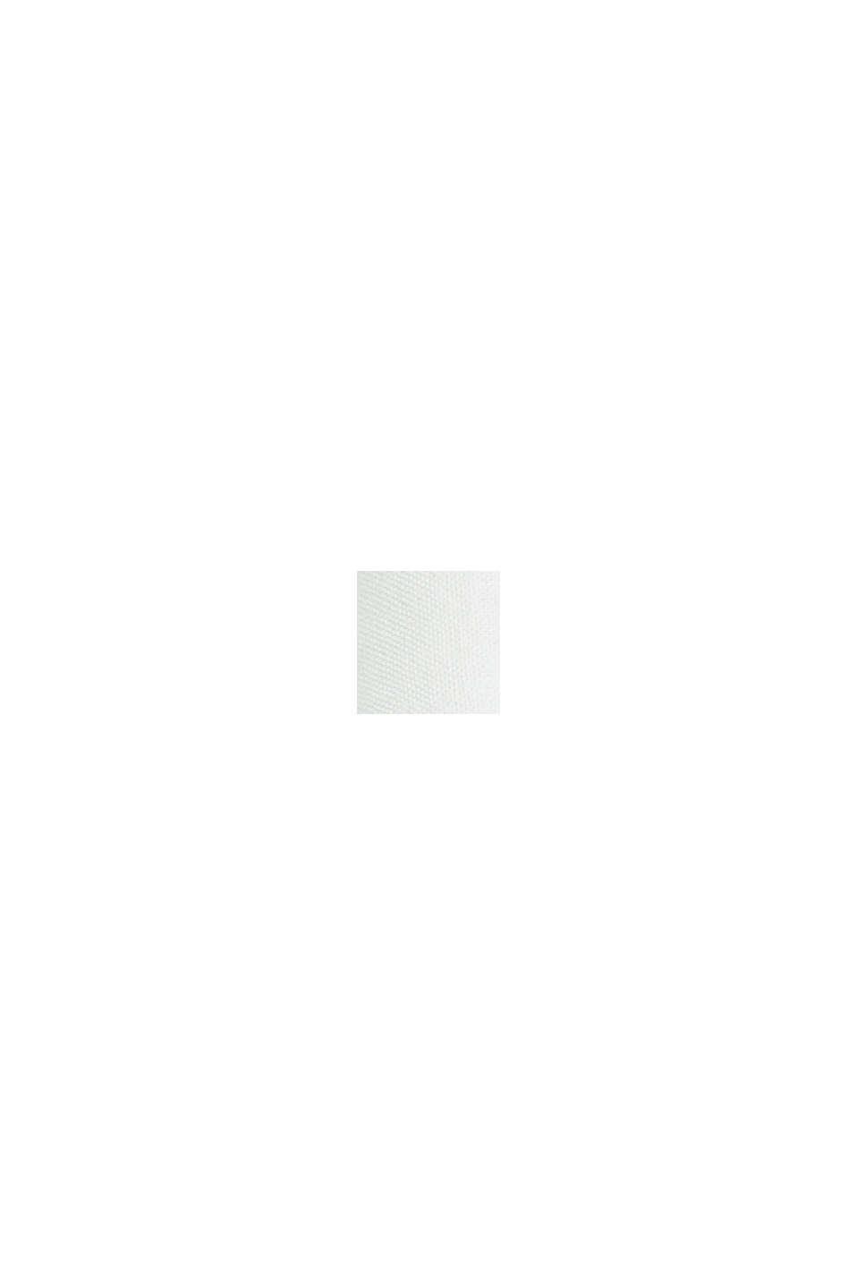 Camicetta con ricamo traforato, cotone biologico, OFF WHITE, swatch