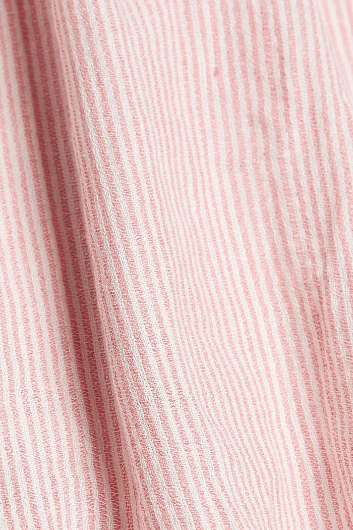 En lin mélangé: le chemisier à rayures verticales, OFF WHITE, detail image number 4