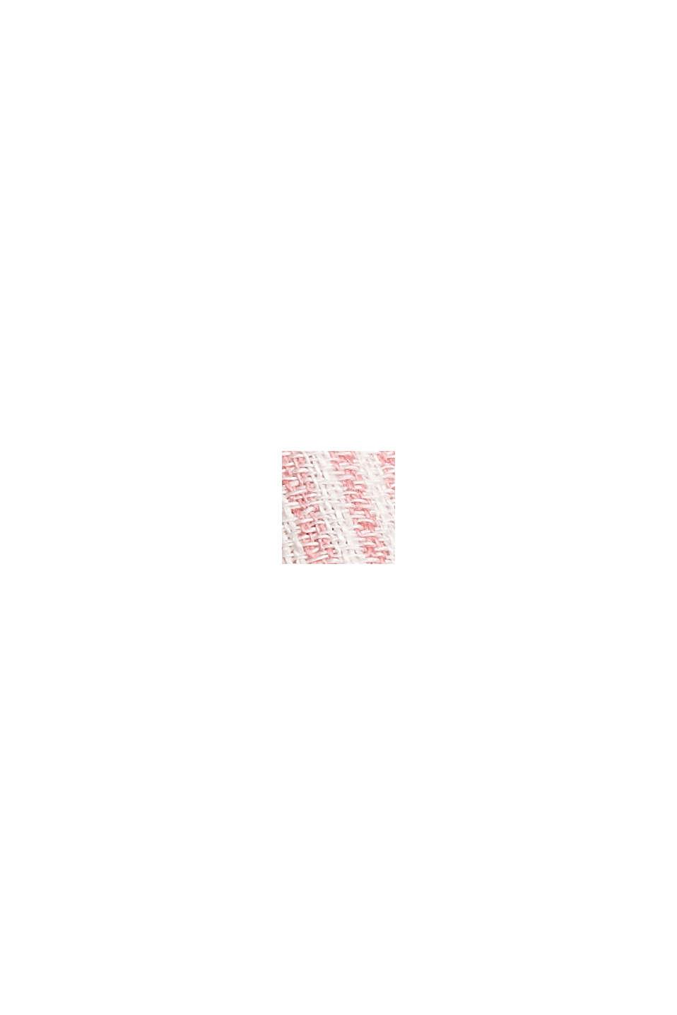 Aus Leinen-Mix: Bluse mit Längsstreifen, OFF WHITE, swatch