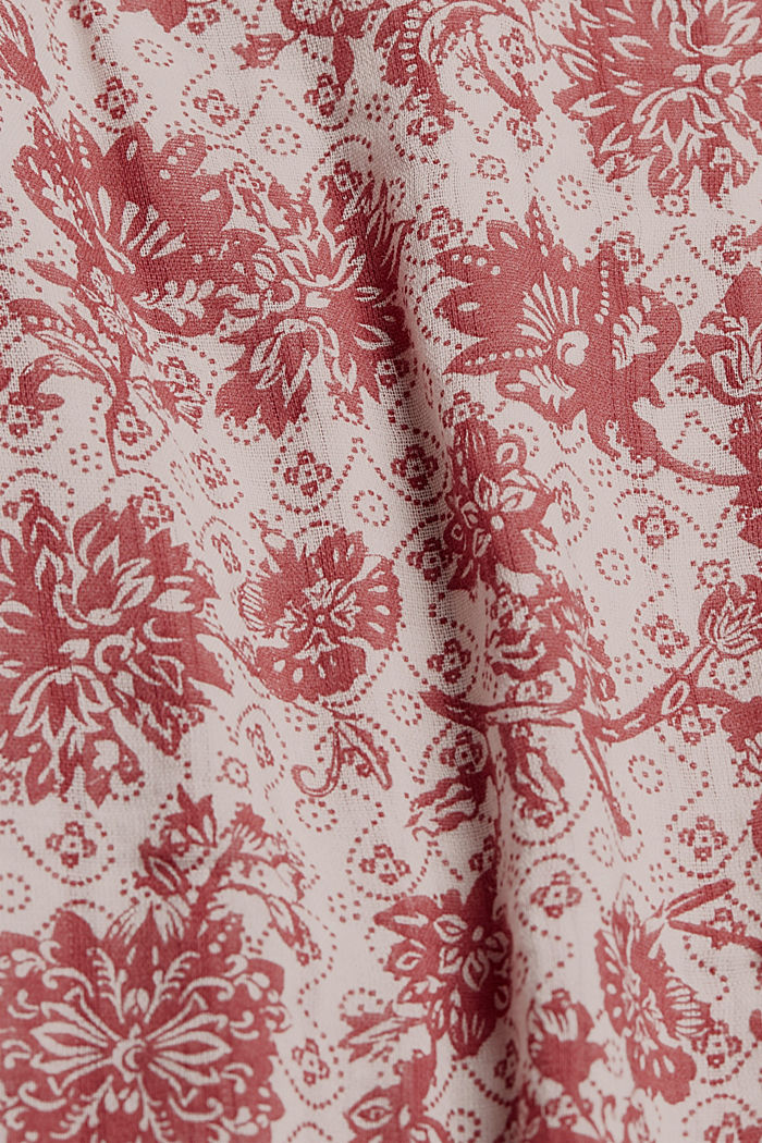 Double face blouse met print en ruches, CORAL, detail image number 4