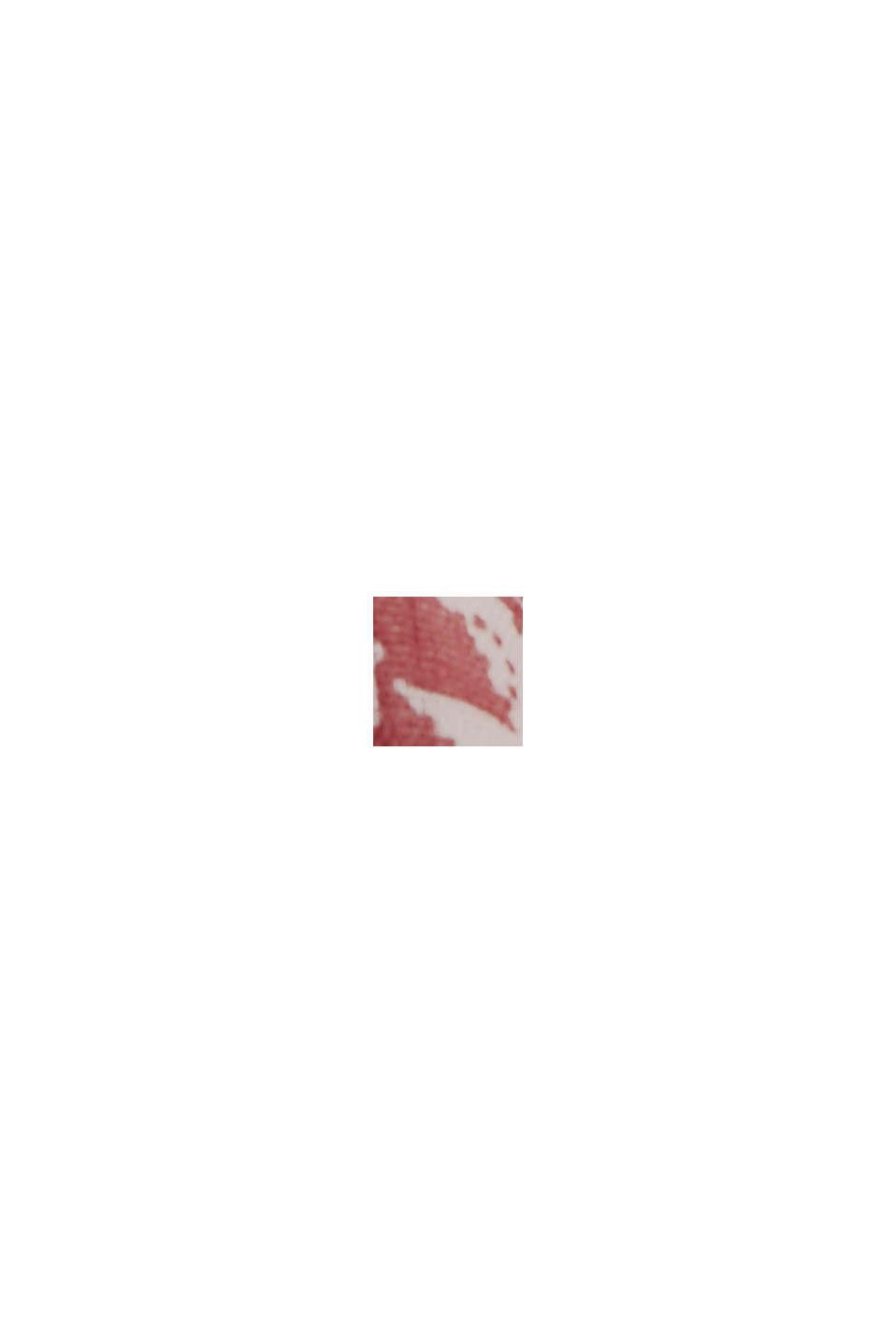 Doubleface-Bluse mit Print und Rüschen, CORAL, swatch
