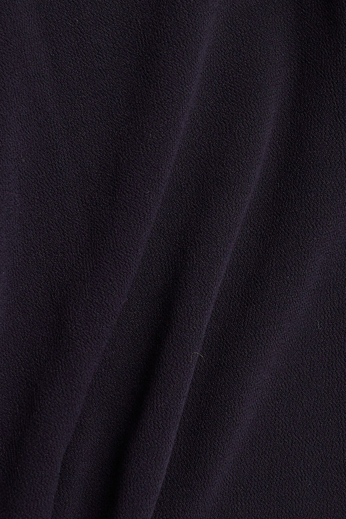 Blousetop van LENZING™ ECOVERO™, NAVY, detail image number 4