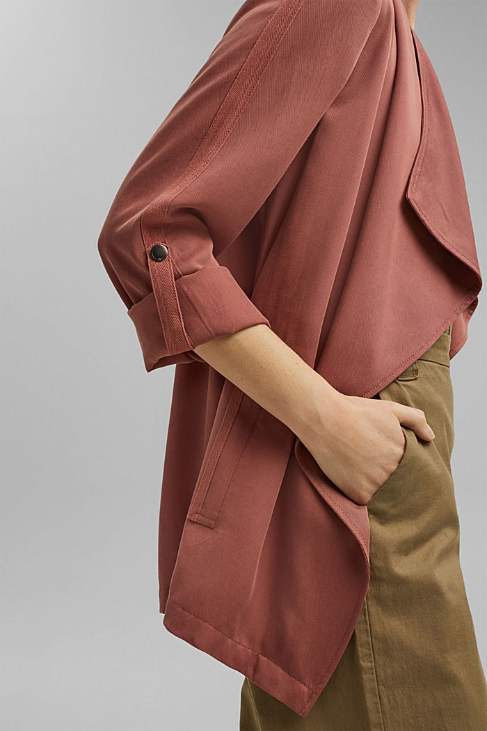 TENCEL™: flowing jacket made of lyocell, CORAL, detail image number 2