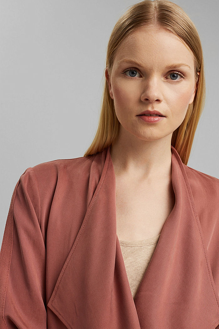 TENCEL™: flowing jacket made of lyocell, CORAL, detail image number 6