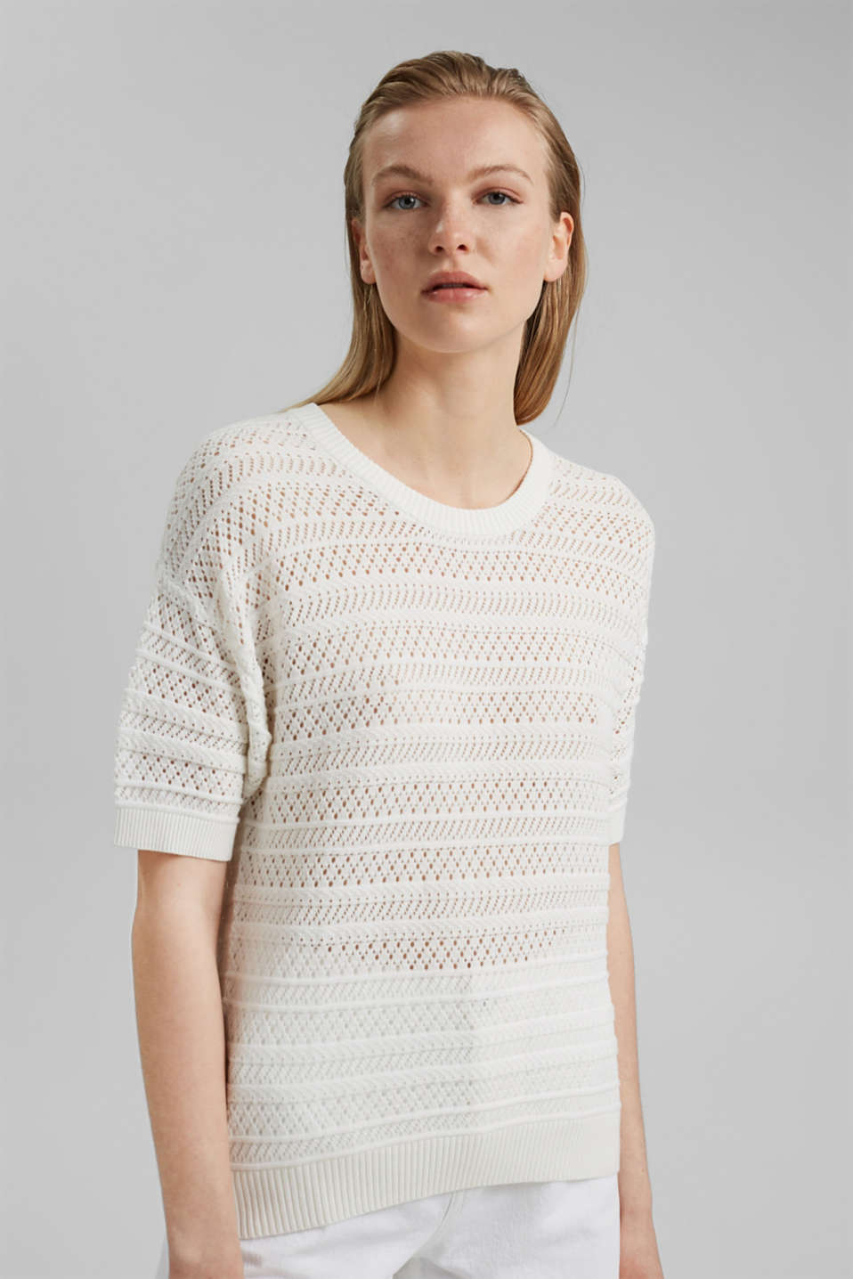 edc - Openwork jumper made of 100% organic cotton