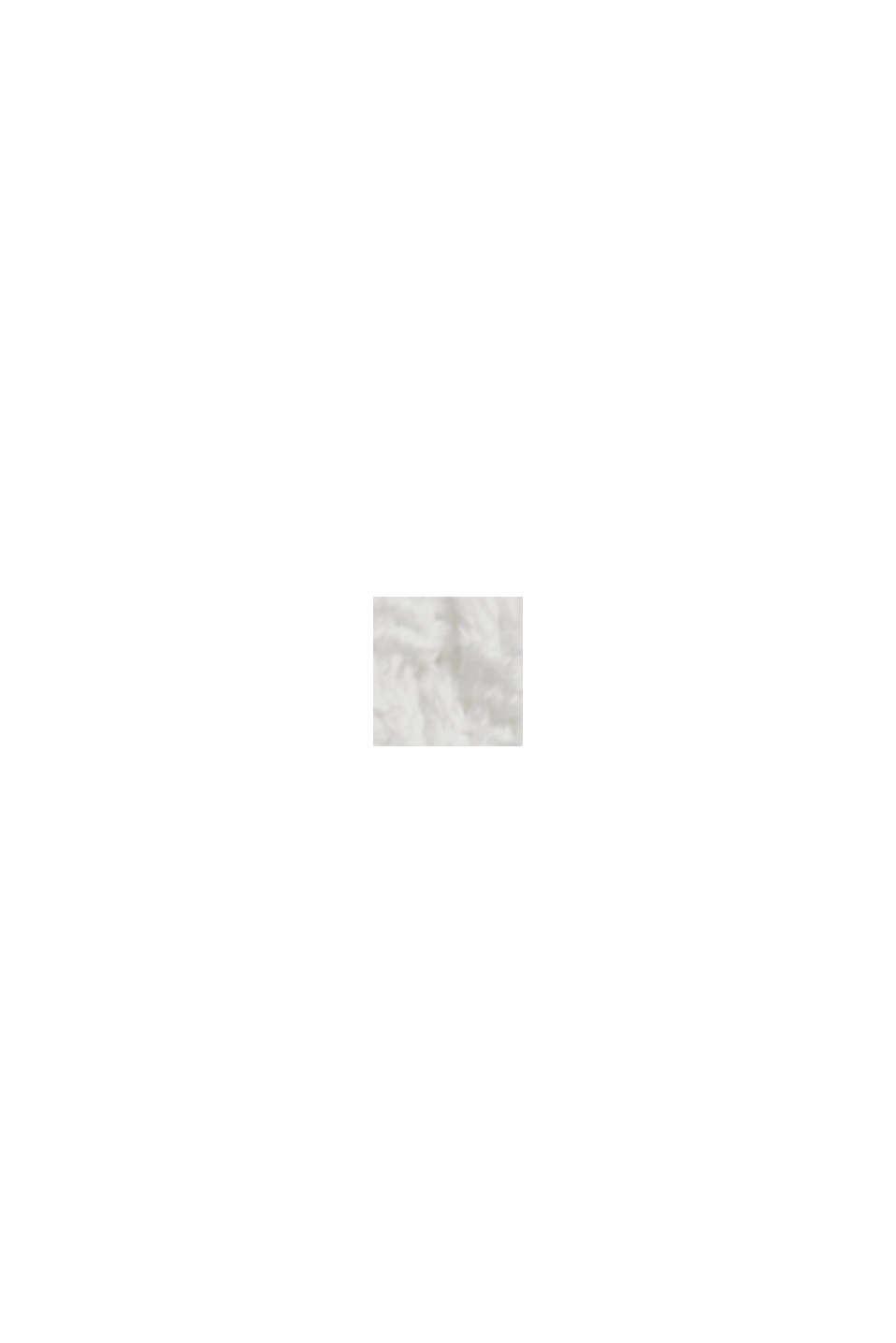 Pullover con motivo traforato, 100% cotone biologico, OFF WHITE, swatch