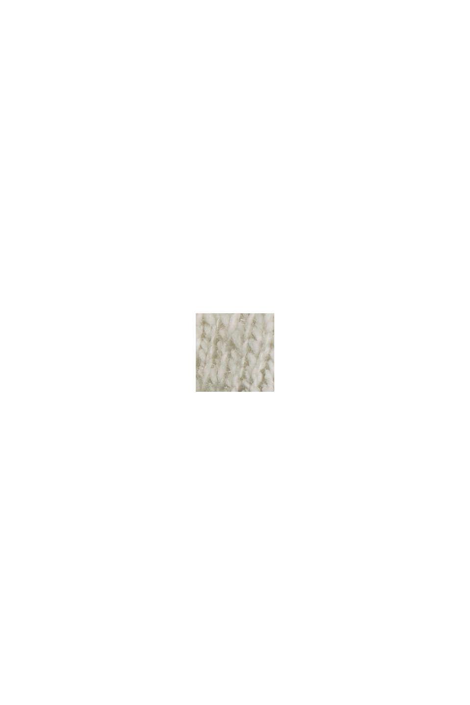 Luomupuuvillaa/pellavaa: palkkiraidallinen neulepusero, LIGHT KHAKI, swatch