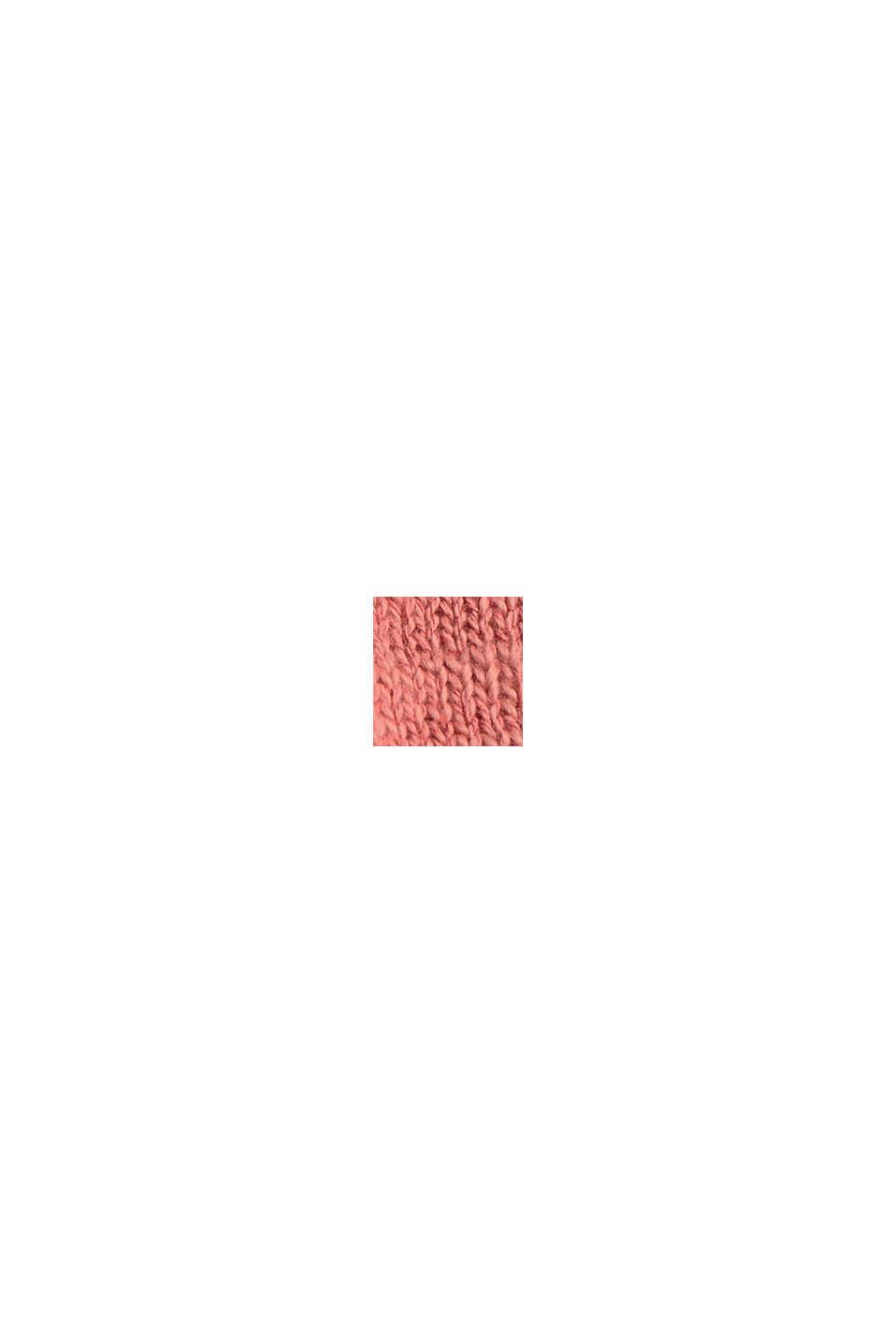 Luomupuuvillaa/pellavaa: palkkiraidallinen neulepusero, CORAL, swatch