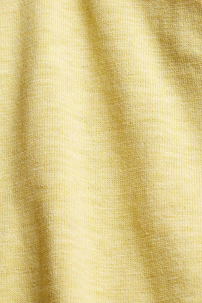 Offener Cardigan aus 100% Organic Cotton, LIGHT YELLOW, detail image number 4