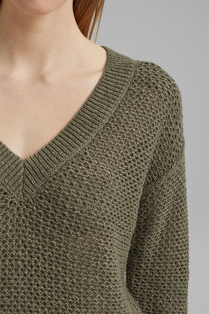 #ReimagineNaturalLifestyle: Pullover mit Leinen, LIGHT KHAKI, detail image number 2