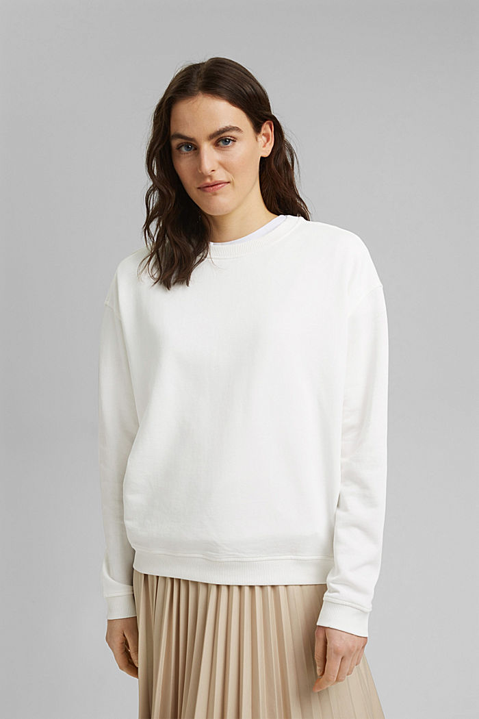 Sweatshirt aus 100% Organic Cotton, OFF WHITE, detail image number 0