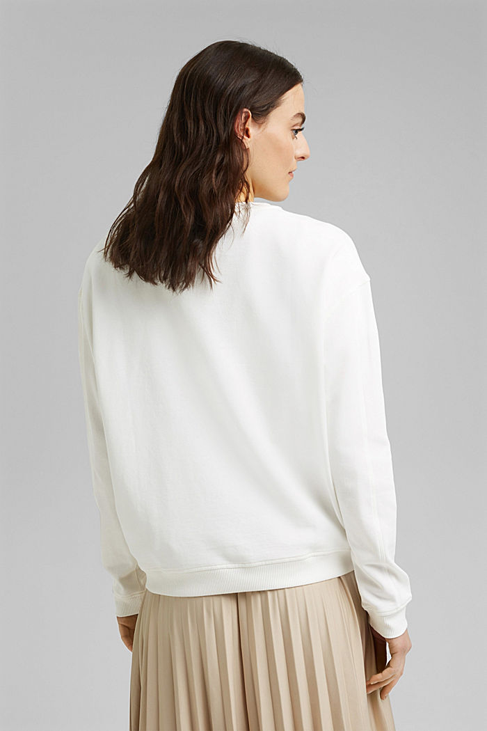 Sweatshirt van 100% biologisch katoen, OFF WHITE, detail image number 3