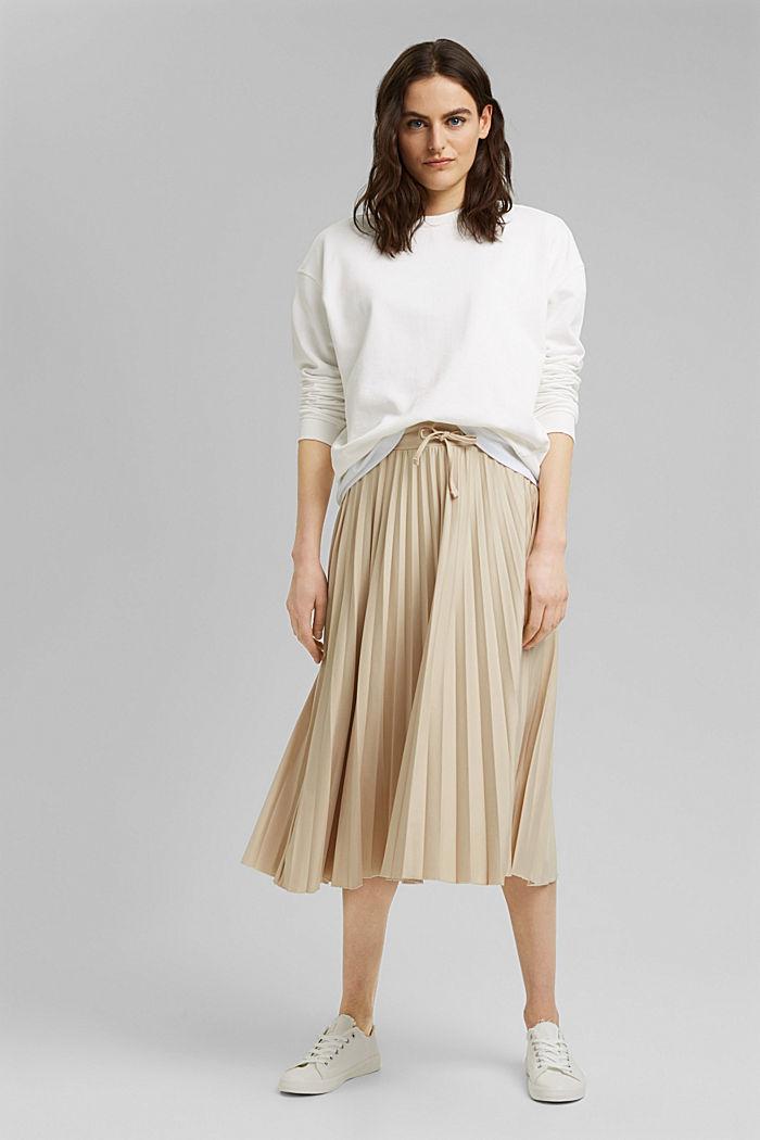 Sweatshirt aus 100% Organic Cotton, OFF WHITE, detail image number 1