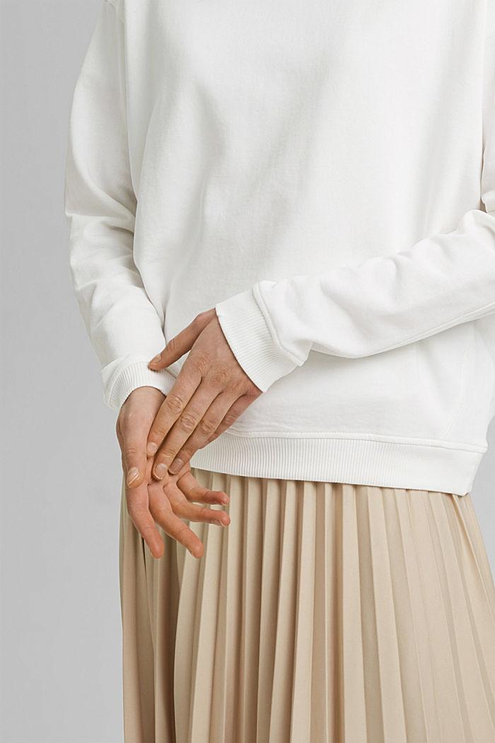 Sweatshirt van 100% biologisch katoen, OFF WHITE, detail image number 2