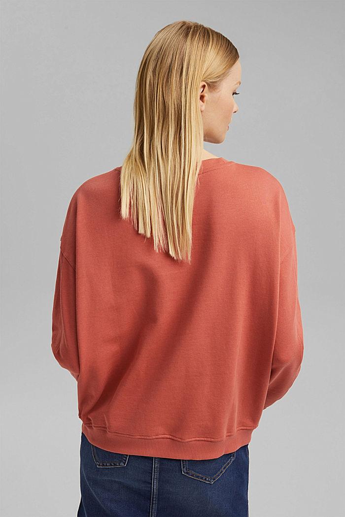 Sweatshirt made of 100% organic cotton, CORAL, detail image number 3