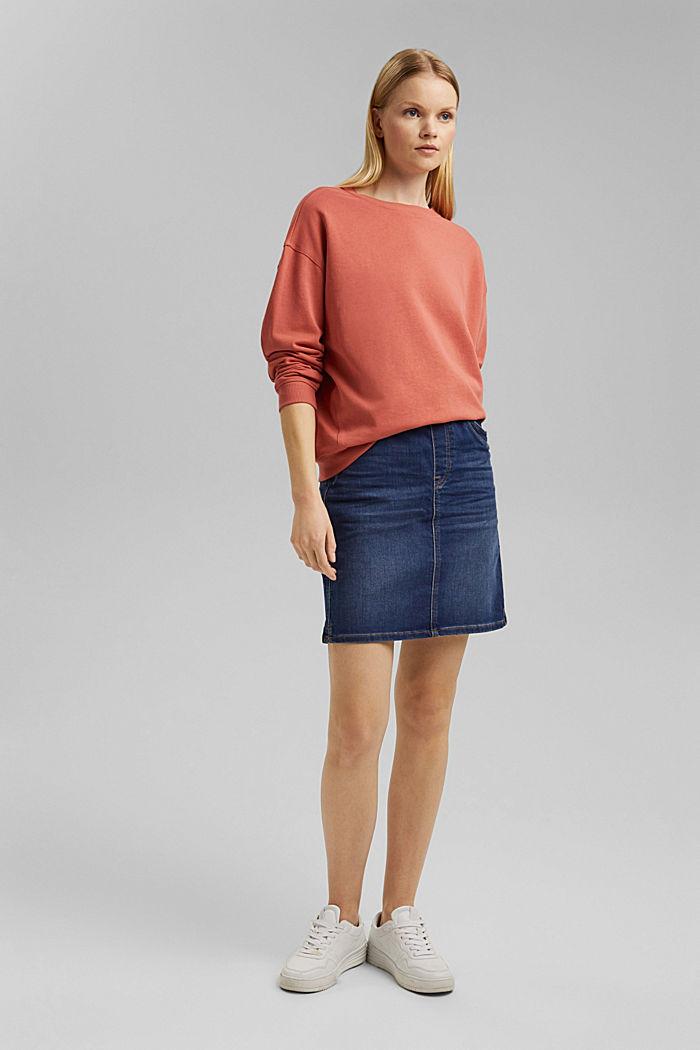 Sweatshirt made of 100% organic cotton, CORAL, detail image number 1