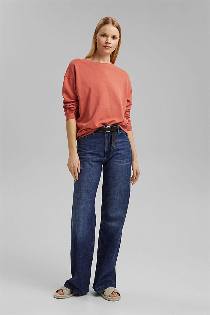 Sweatshirt made of 100% organic cotton, CORAL, detail image number 4