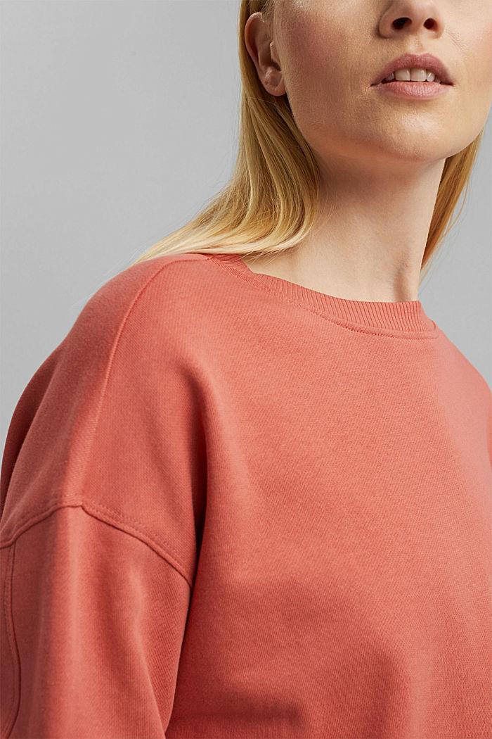 Sweatshirt made of 100% organic cotton, CORAL, detail image number 2