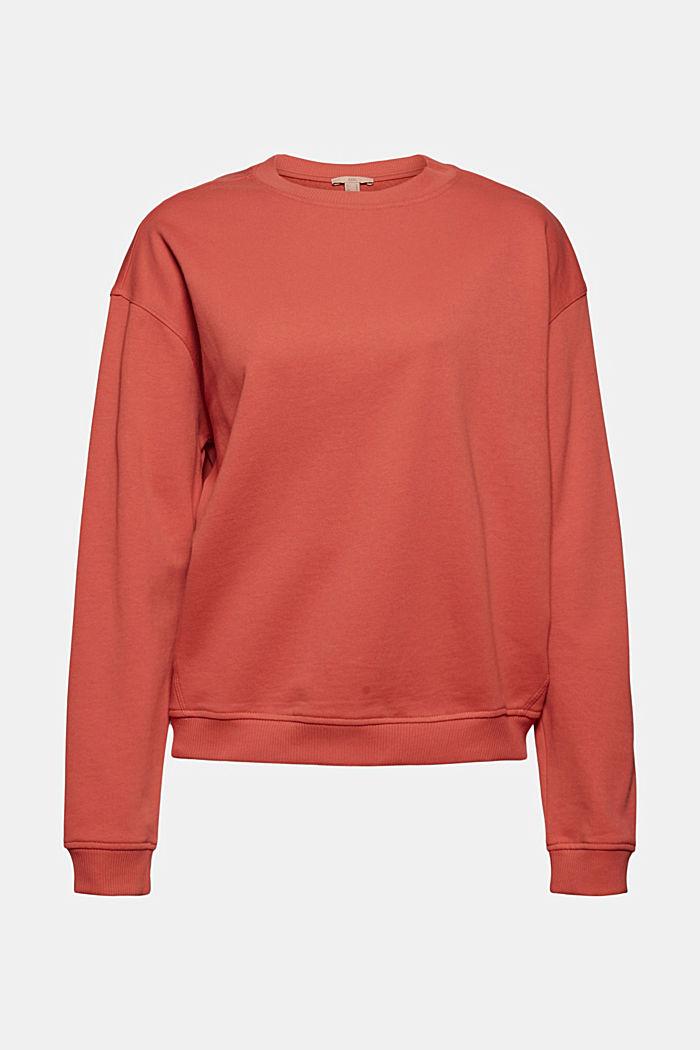 Sweatshirt made of 100% organic cotton, CORAL, detail image number 5