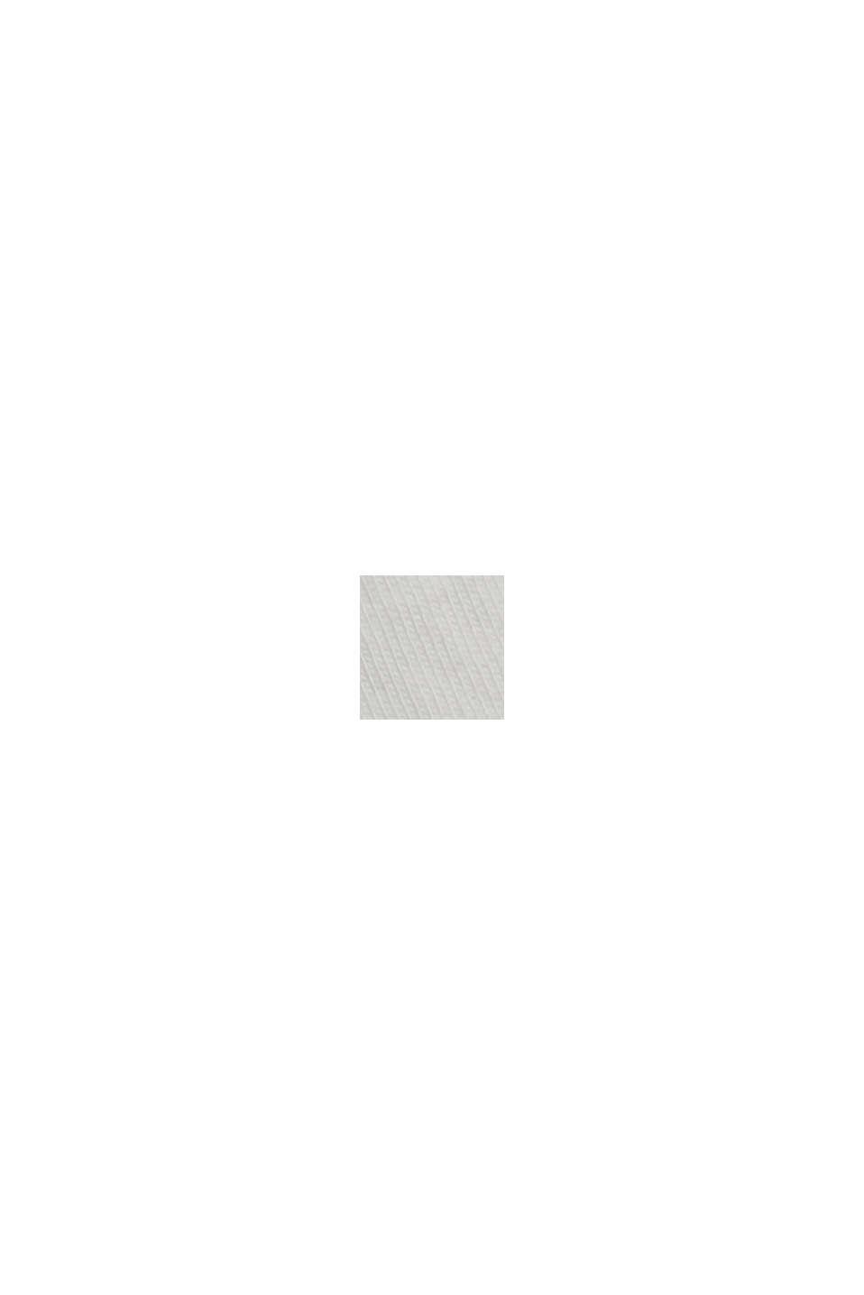 Top van een materiaalmix met opengewerkt borduursel, OFF WHITE, swatch