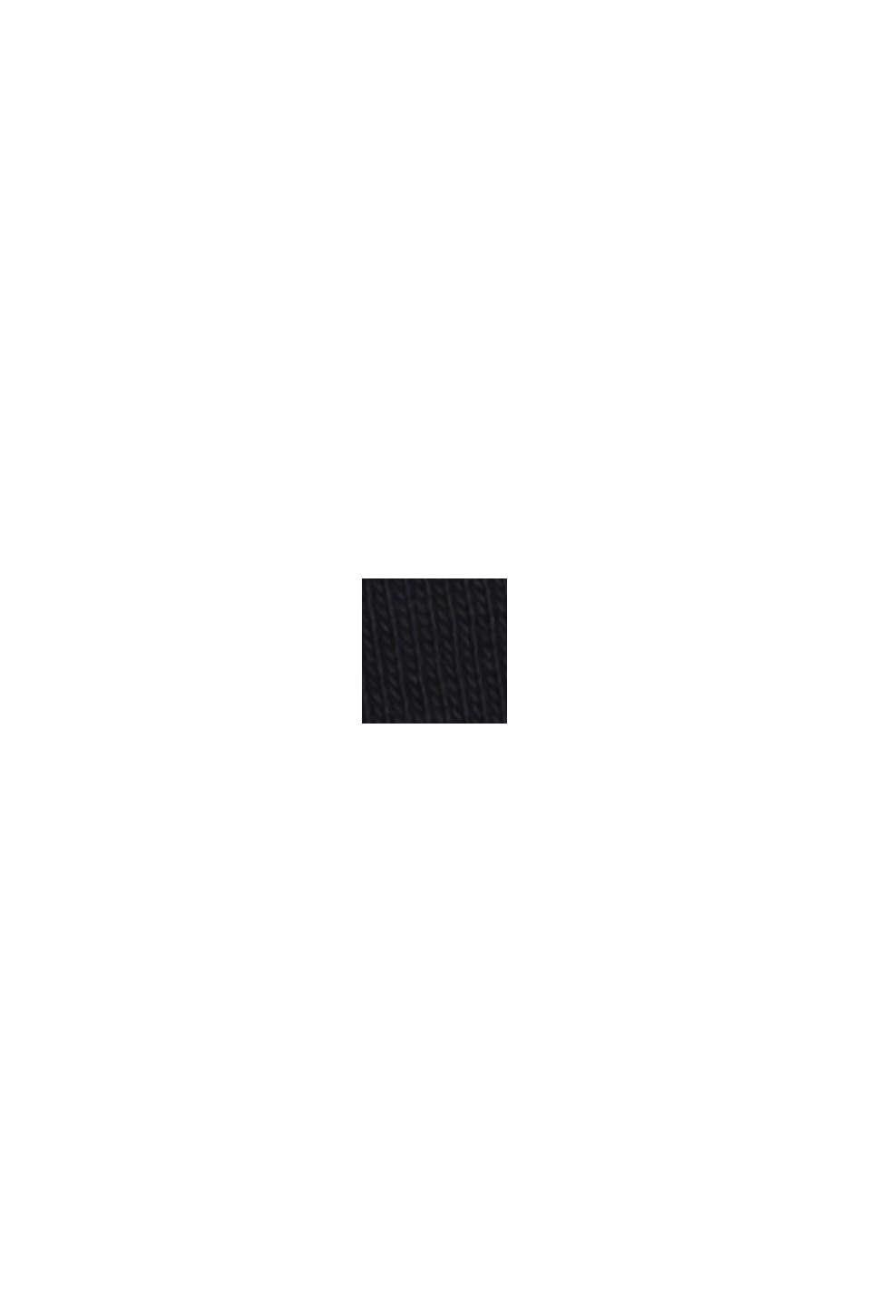 Basic shirt met V-hals, van biologisch katoen, BLACK, swatch