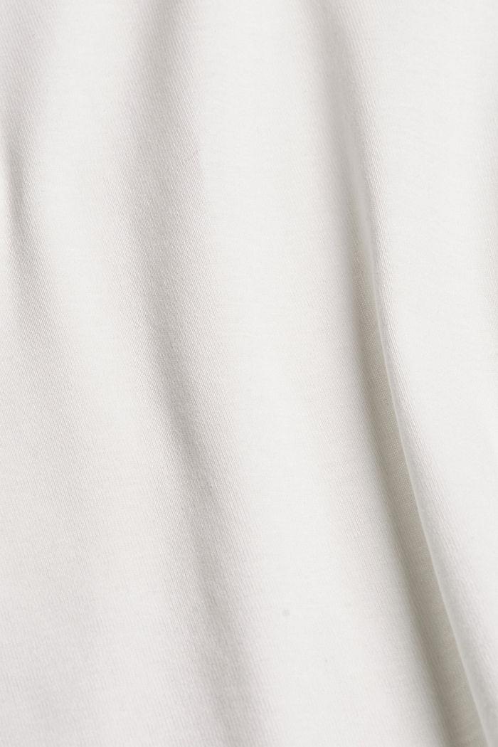 Basic V-neck T-shirt in organic cotton, OFF WHITE, detail image number 4
