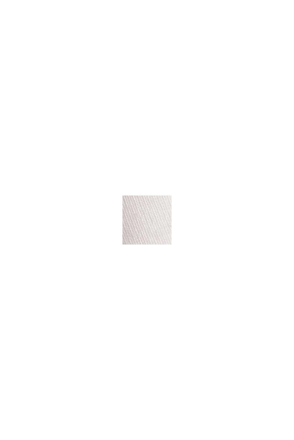 Maglia basic con scollo a V in cotone biologico, OFF WHITE, swatch