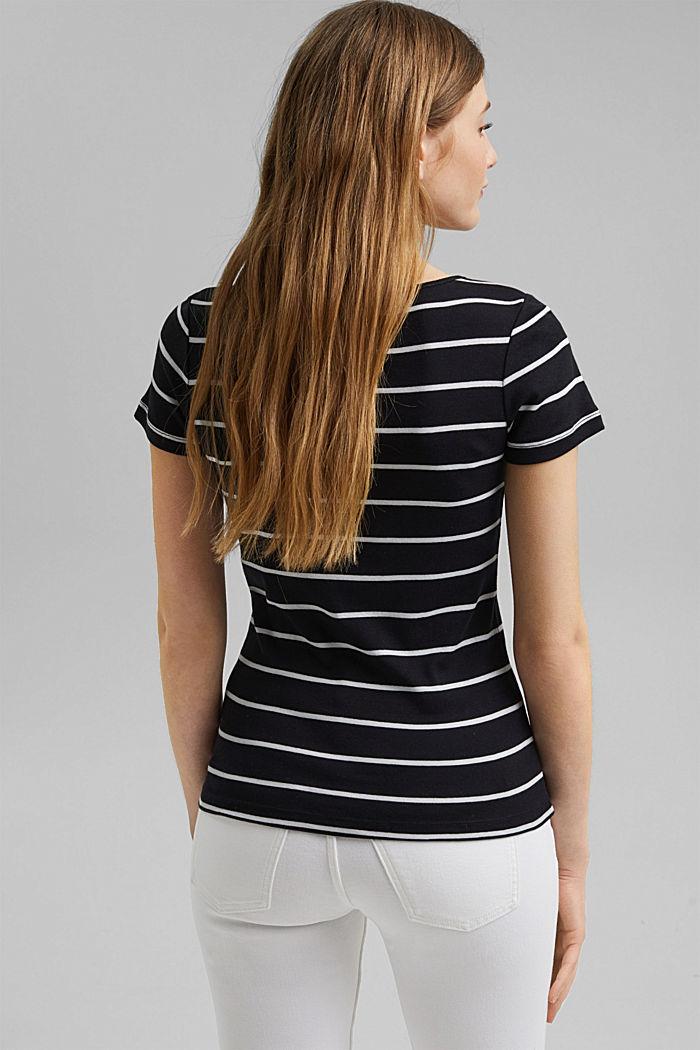 Basic V-neck T-shirt in organic cotton, BLACK, detail image number 3