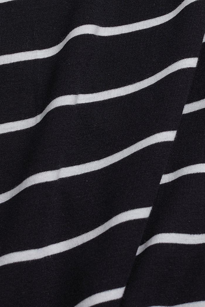 Basic V-neck T-shirt in organic cotton, BLACK, detail image number 4