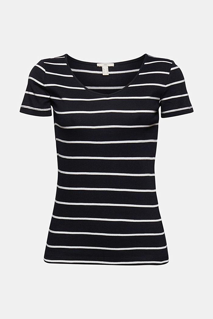 Basic V-neck T-shirt in organic cotton, BLACK, detail image number 5