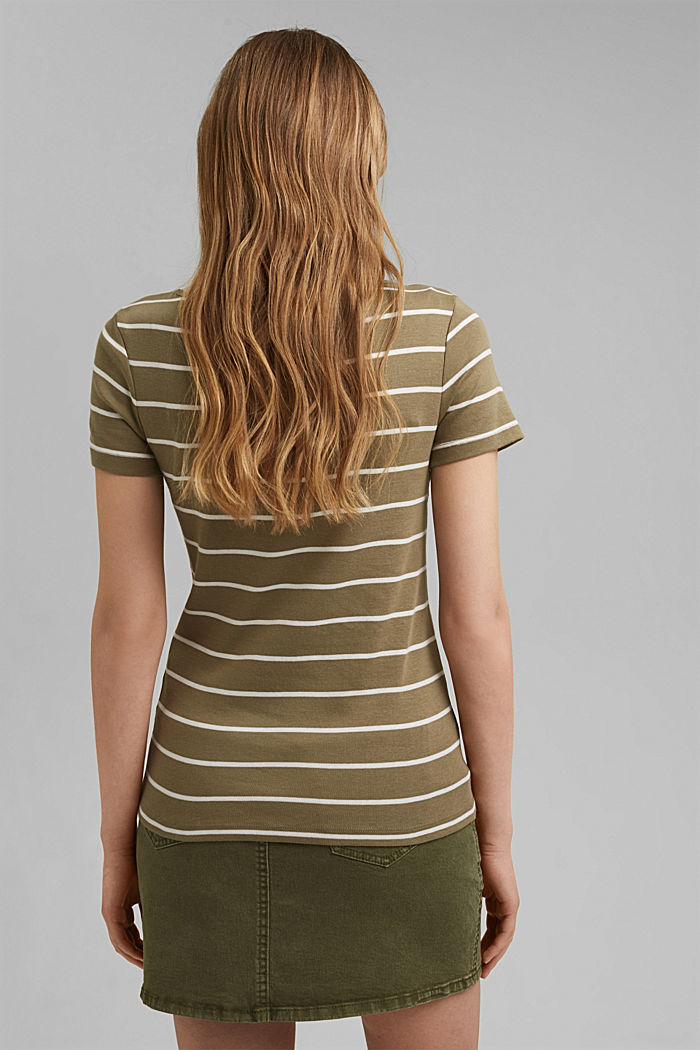 Basic V-Neck-Shirt aus Organic Cotton, LIGHT KHAKI, detail image number 3