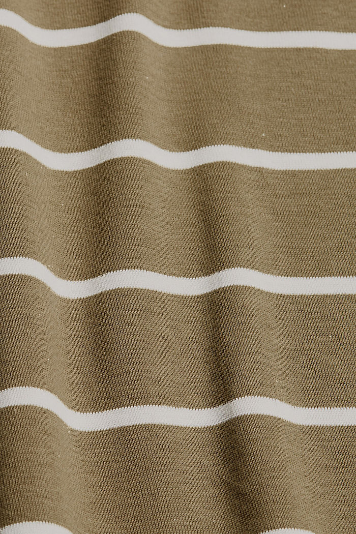 Basic V-Neck-Shirt aus Organic Cotton, LIGHT KHAKI, detail image number 4
