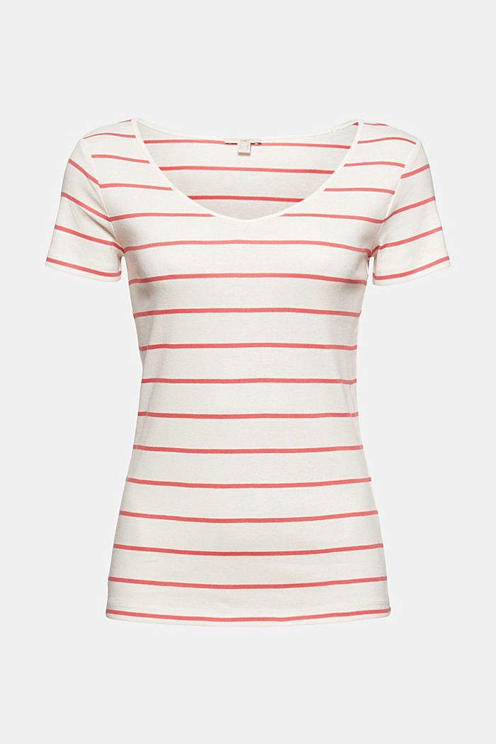 T-shirt col V basique en coton biologique