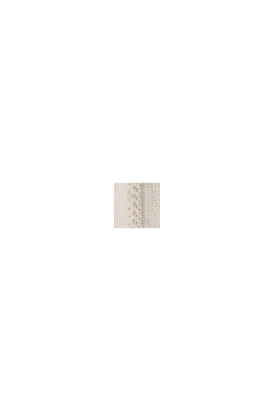 Recycelt: Trägertop mit Pointelle-Muster, OFF WHITE, swatch