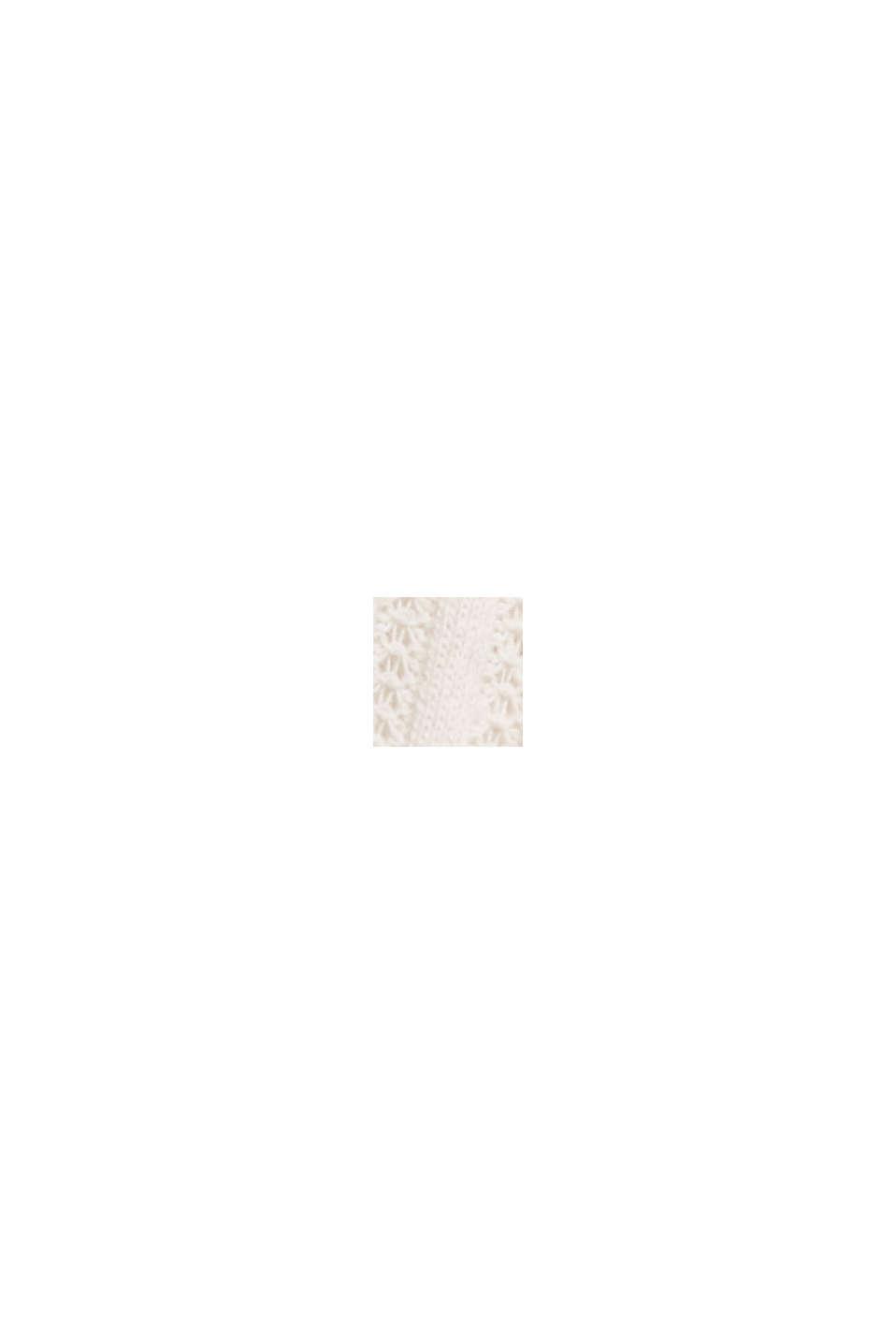 Återvunnet material: linne med pointellemönster, OFF WHITE, swatch