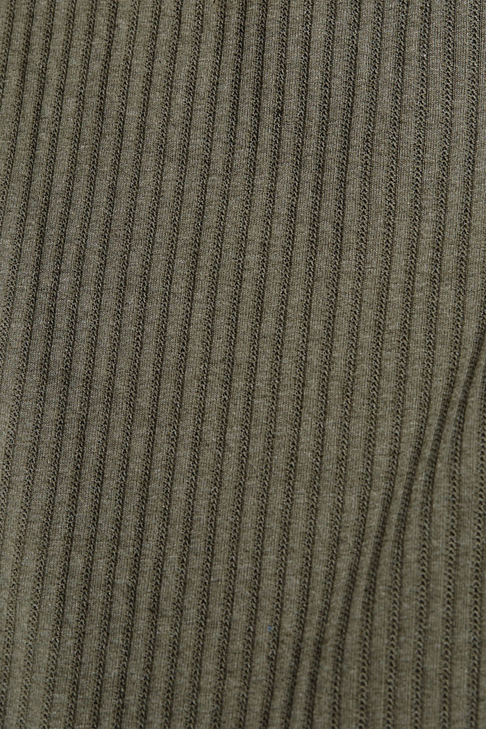 En matière recyclée: le t-shirt à motif pointelle, LIGHT KHAKI, detail image number 4