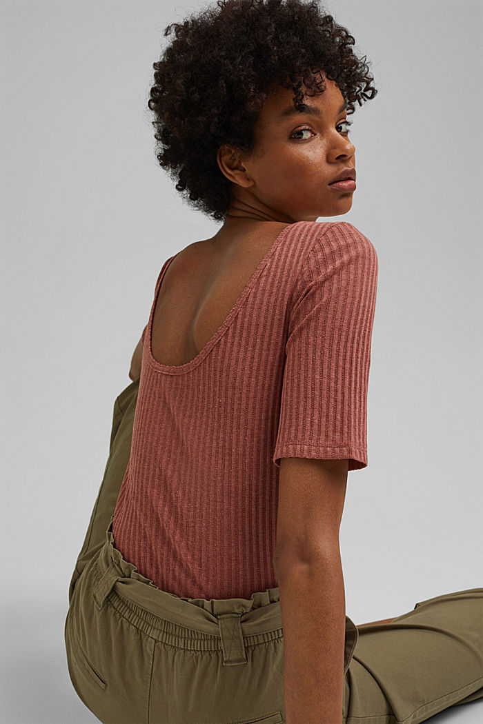 Recycelt: T-Shirt mit Pointelle-Muster